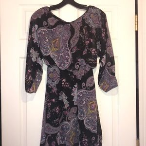 Paisley Print Express Long Sleeve Dress